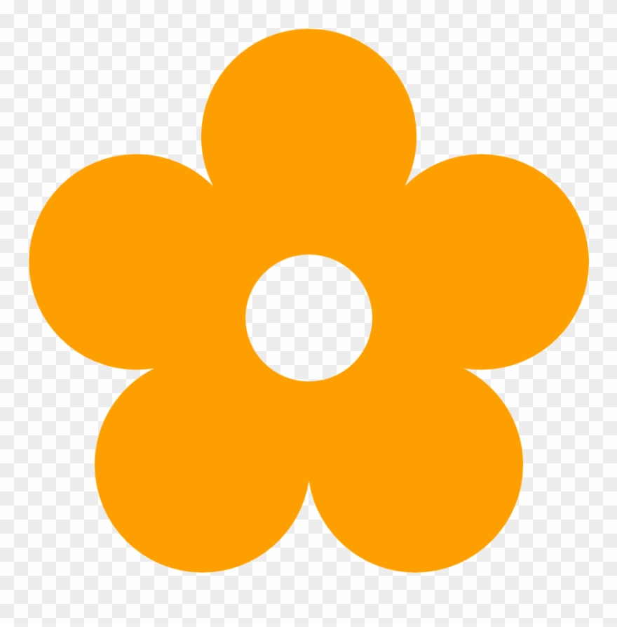 Yellow flower no background clipart image freeuse Orange Flower Clipart Kid Art - Flower Clipart Transparent ... image freeuse