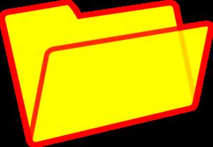 Yellow folder clipart jpg free stock Yellow Folder Clip Art at Clker.com - vector clip art online ... jpg free stock