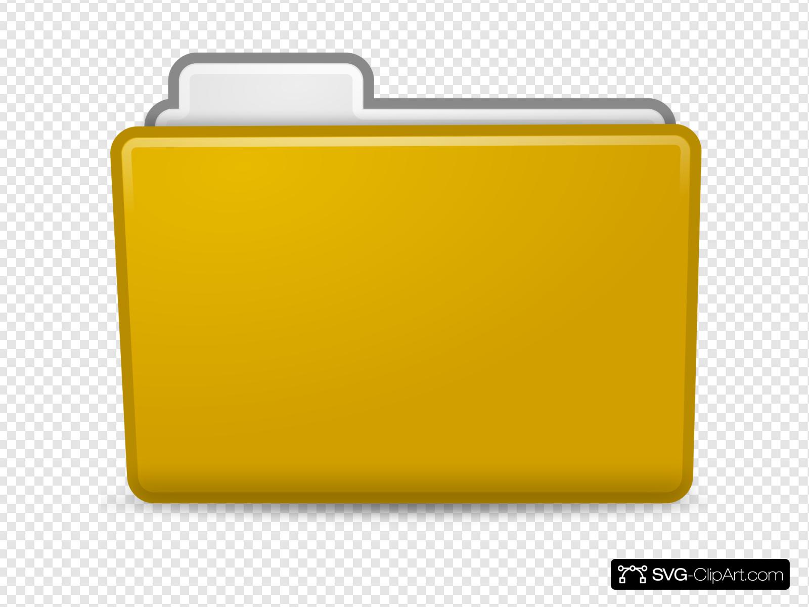 Yellow folder clipart jpg freeuse Yellow Folder Clip art, Icon and SVG - SVG Clipart jpg freeuse