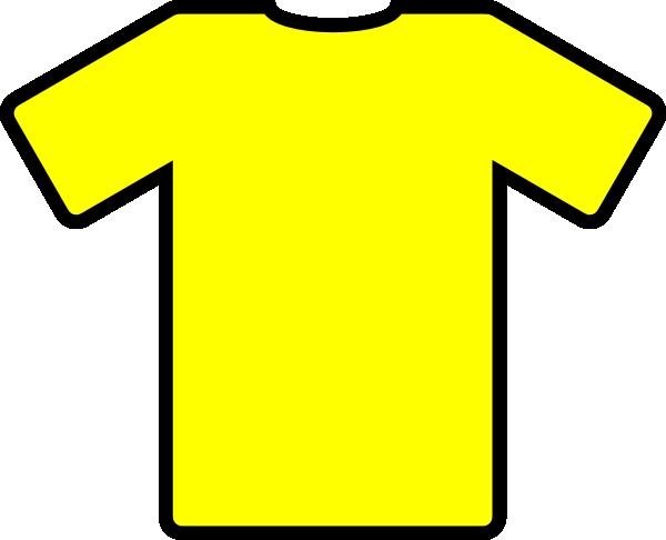 Yellow football jersey clipart