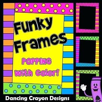 Yellow frame clipart fun jpg library library Original 1 Funky Picture Frames Fun And Bright Colorful ... jpg library library