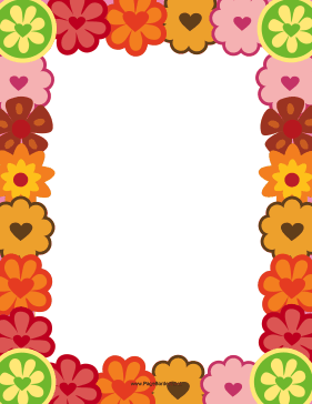 Yellow frame clipart fun clip art freeuse stock Great for hippies or anyone who loved the 1960s, this ... clip art freeuse stock