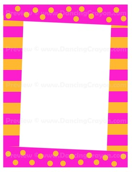 Yellow frame clipart fun png stock Fun and Funky Frames | Bright and Colorful Borders Clip Art png stock
