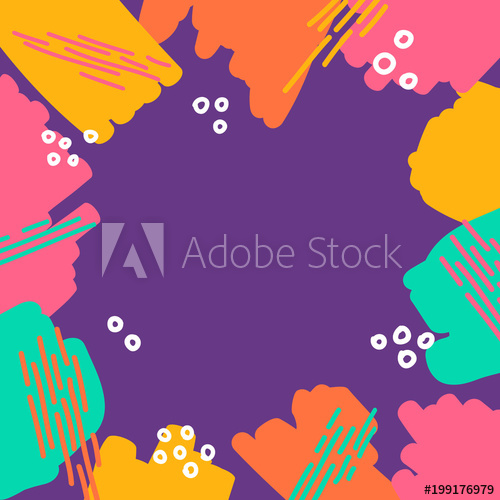 Yellow frame clipart fun jpg royalty free abstract different marker strokes shapes colorful border ... jpg royalty free