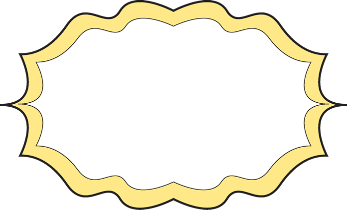 Yellow frame clipart fun picture free Fancy Yellow Frame - Free Clip Art Frames picture free