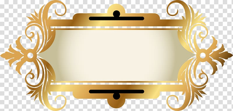 Yellow frame tag clipart png clipart freeuse Yellow border, frame, Golden sparkle label transparent ... clipart freeuse