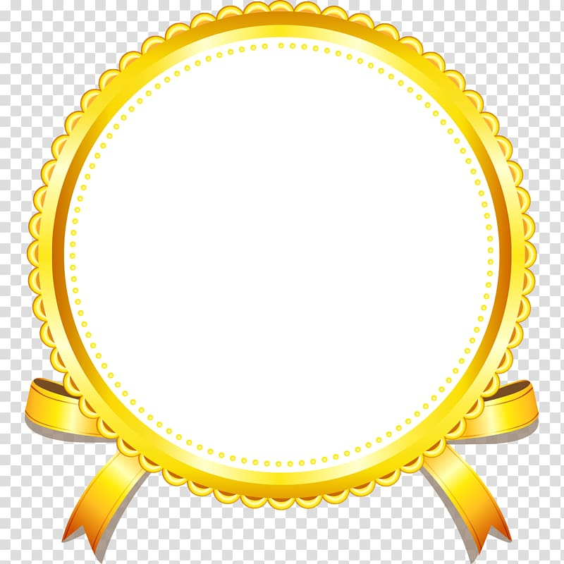 Yellow frame tag clipart png picture royalty free stock Round white and yellow ribbon illustration, Gold Yellow ... picture royalty free stock