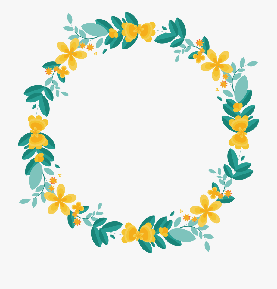 Yellow garland clipart image stock Garland Clipart Lemon - Flower Circle Border Png #760704 ... image stock