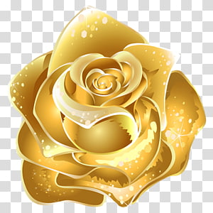 Yellow gold clipart graphic royalty free library Gold rose , Gold Flower Yellow , Gold transparent background ... graphic royalty free library