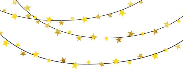 Yellow gold clipart jpg library stock Yellow and Gold Bunting Banner Clipart Pack jpg library stock
