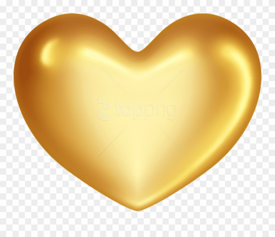 Yellow heart balloon clipart svg free library Free Png Gold Heart Png Png - Transparent Background Yellow ... svg free library
