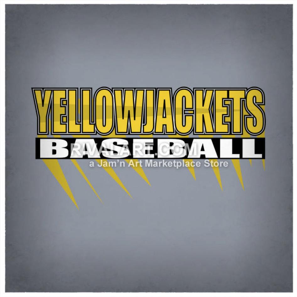 Yellow jacket baseball clipart graphic free Yellow Jackets Baseball Logo Design graphic free