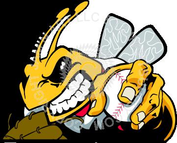 Yellow jacket baseball clipart clip art library Baseball bee with ball and glove clip art library