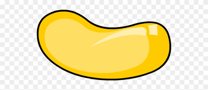 Yellow jelly bean clipart