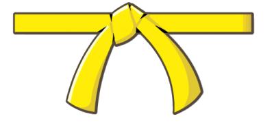 Yellow karate belt clipart jpg royalty free download Yellow Belt Test Dec. 2017 - Southern Maine ... jpg royalty free download