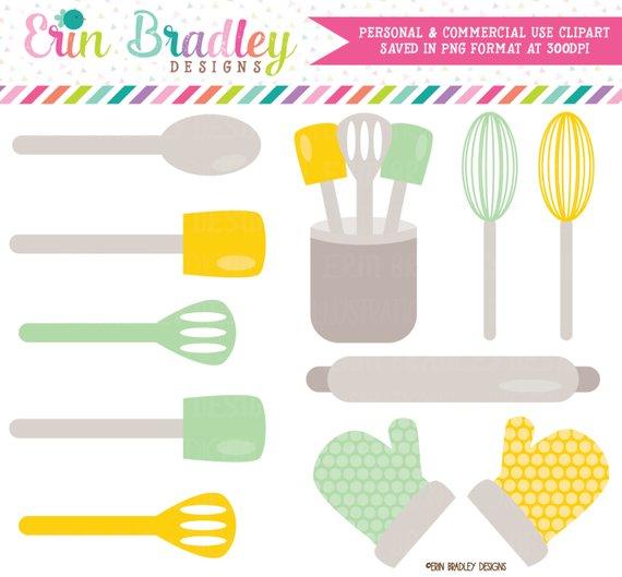 Yellow kitchen clipart image ON SALE! Kitchen Clipart, Baking Clip Art, Kitchen Utensils ... image