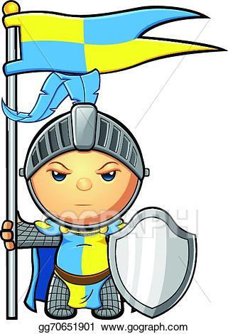 Yellow knight clipart jpg transparent library Vector Illustration - Blue & yellow knight. EPS Clipart ... jpg transparent library