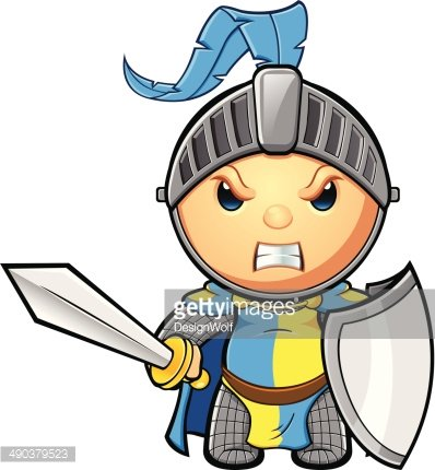 Yellow knight clipart clip art free download Blue & Yellow Knight Looking Angry premium clipart ... clip art free download