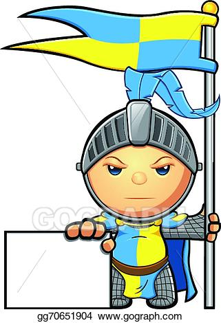 Yellow knight clipart picture free download Vector Illustration - Blue & yellow knight. EPS Clipart ... picture free download