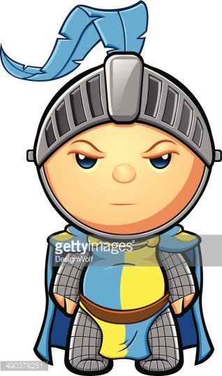 Yellow knight clipart graphic royalty free library Blue & Yellow Knight Standing Still premium clipart ... graphic royalty free library