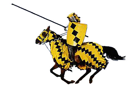 Yellow knight clipart