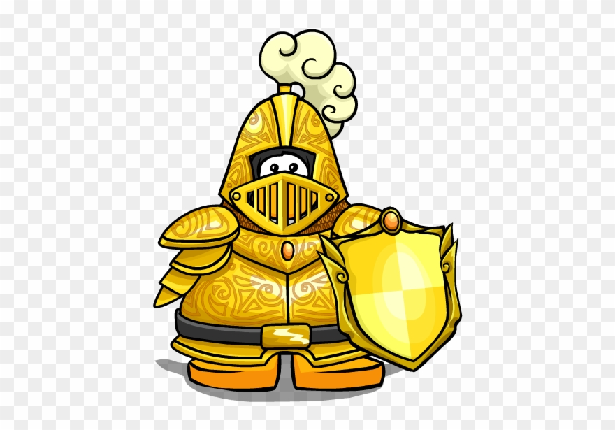 Yellow knight clipart freeuse library Knight Clipart Yellow - Club Penguin Golden Knight - Png ... freeuse library
