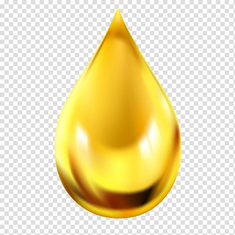 Yellow liquid clipart transparent Oil Drop Icon, Gold color drops material, yellow liquid drop ... transparent