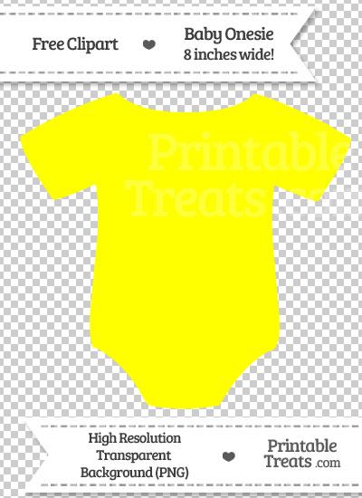 Yellow onesie clipart image free Yellow Baby Onesie Clipart — Printable Treats.com image free