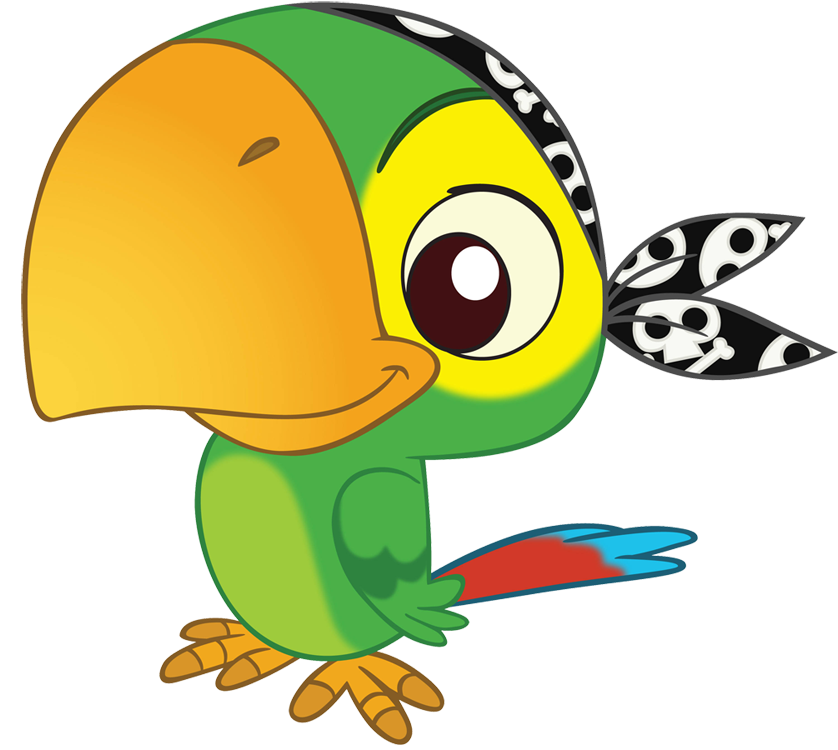 Yellow parrot pirate clipart graphic black and white library Pirate Parrot Clipart | Free download best Pirate Parrot ... graphic black and white library