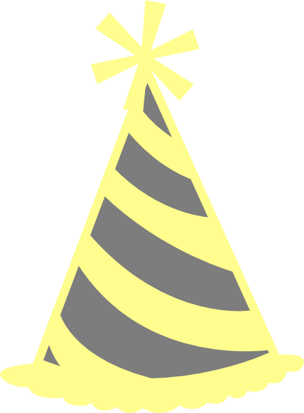 Yellow party hat clipart free Yellow Gray Party Hat Clip Art at Clker.com - vector clip ... free