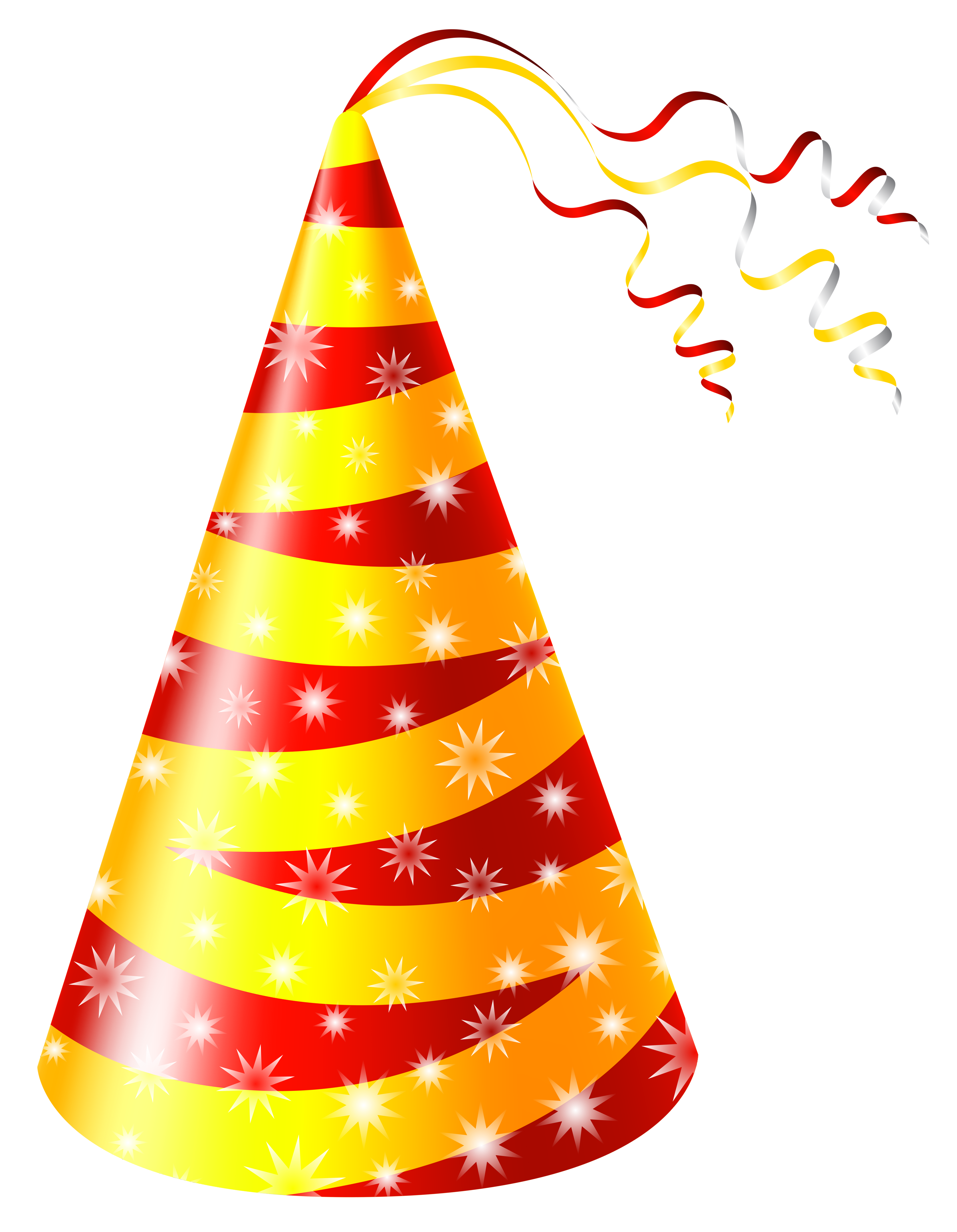 Yellow party hat clipart clipart freeuse download Birthday hat yellow and red party hat clipart image ... clipart freeuse download