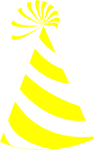 Yellow party hat clipart svg transparent Yellow And White Hat Clip Art at Clker.com - vector clip art ... svg transparent