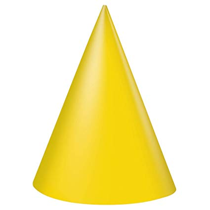 Yellow party hat clipart vector black and white stock Yellow Party Hats, 8ct vector black and white stock