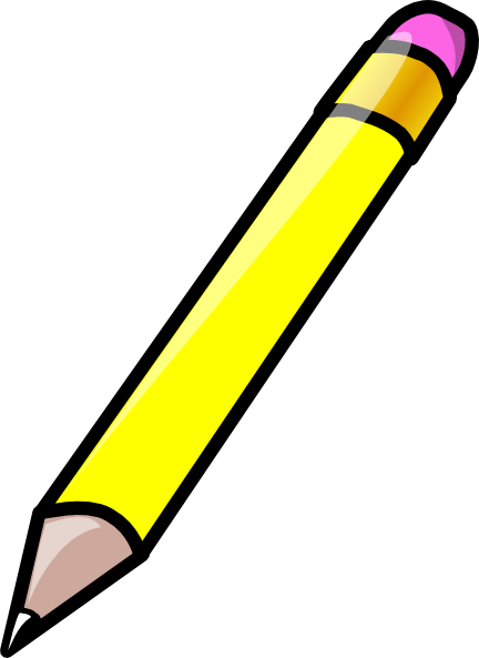 Yellow pencil clipart free graphic black and white Free Yellow Pencil Cliparts Download Clip Art Average Images ... graphic black and white