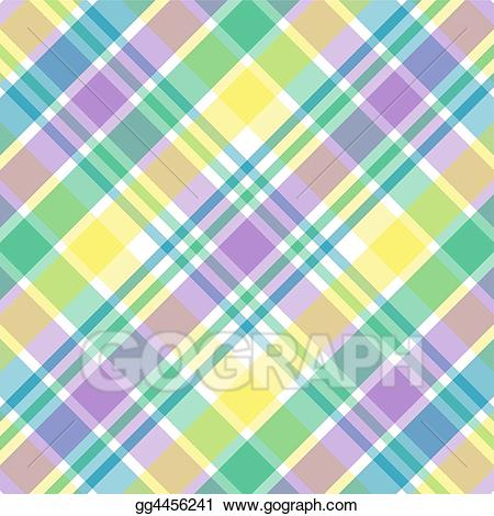 Yellow plaid clipart svg black and white stock Stock Illustration - Pastel plaid. Clipart Illustrations ... svg black and white stock