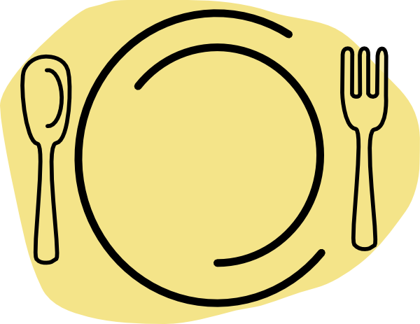 Yellow plate clipart jpg black and white Yellow-cream Plate Clip Art at Clker.com - vector clip art ... jpg black and white