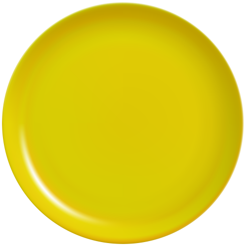 Yellow plate clipart vector freeuse Download Free png Yellow Plate PNG Clip Art Best WEB Clipart ... vector freeuse