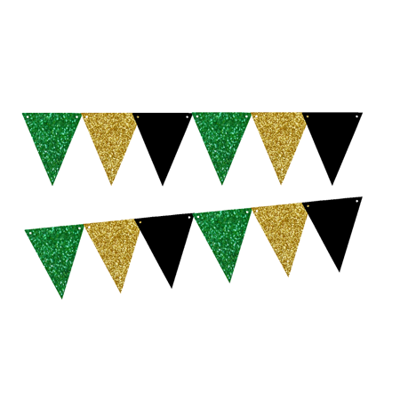Yellow puple and green flag banner clipart vector library library Purple Glitter Gold Gliter Solid Black 10ft Vintage Pennant Banner Paper  Triangle Bunting Flags for Weddings, Birthdays, Baby Showers, Events & ... vector library library