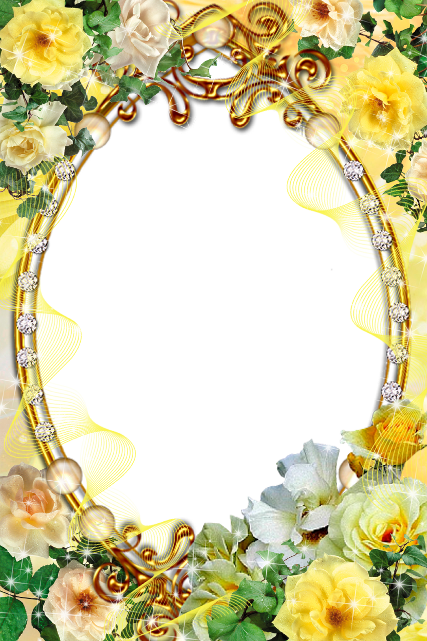 Yellow rose frame clipart clip art royalty free library Spring Background Frame clipart - Rose, Flower, Spring ... clip art royalty free library