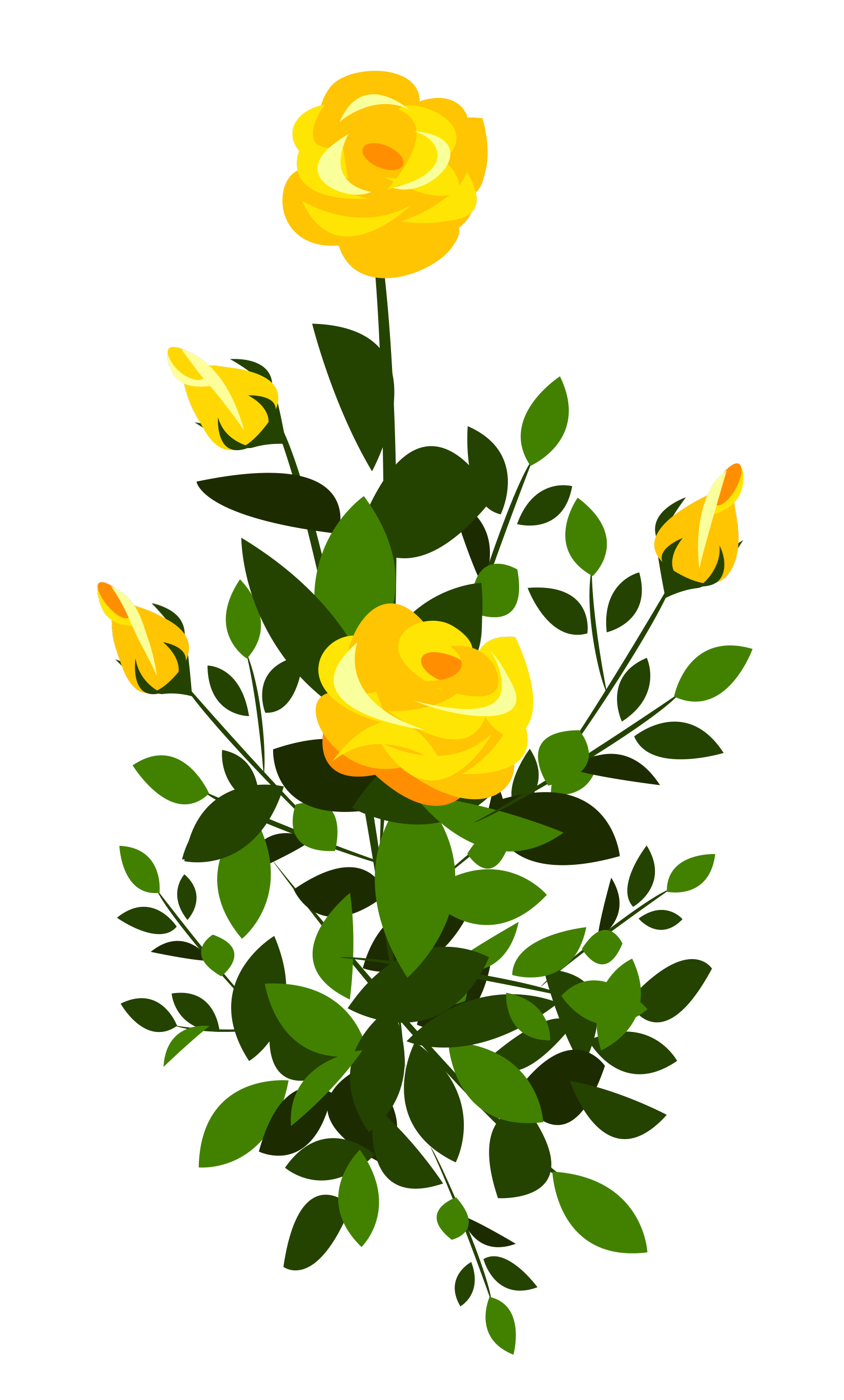 Yellow rose frame clipart clip art black and white Yellow Rose Bush PNG Clipart Image | Gallery Yopriceville ... clip art black and white
