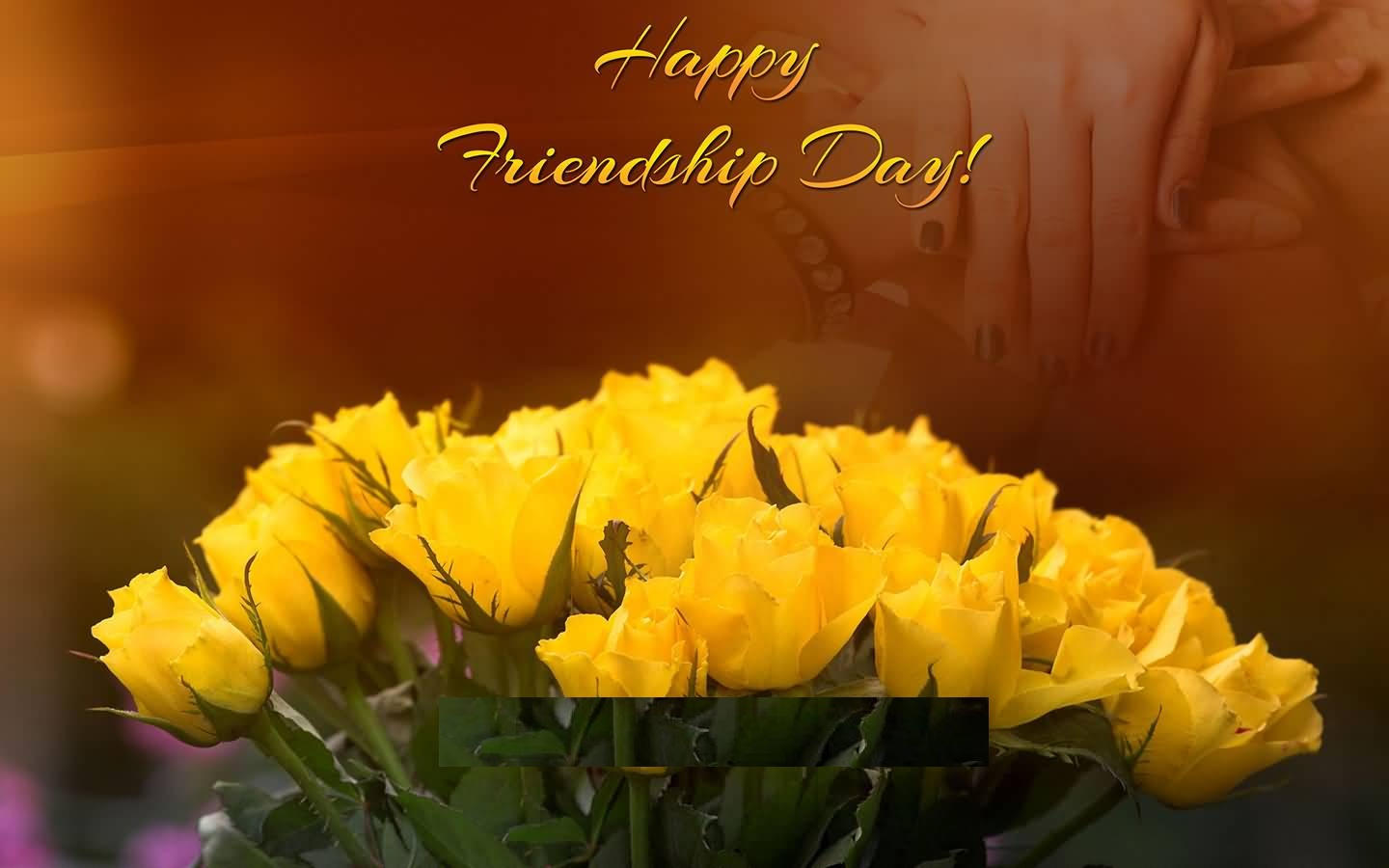 Yellow rose friendship clipart jpg free download Happy Friendship Day Yellow Rose Photo - Free Printable ... jpg free download