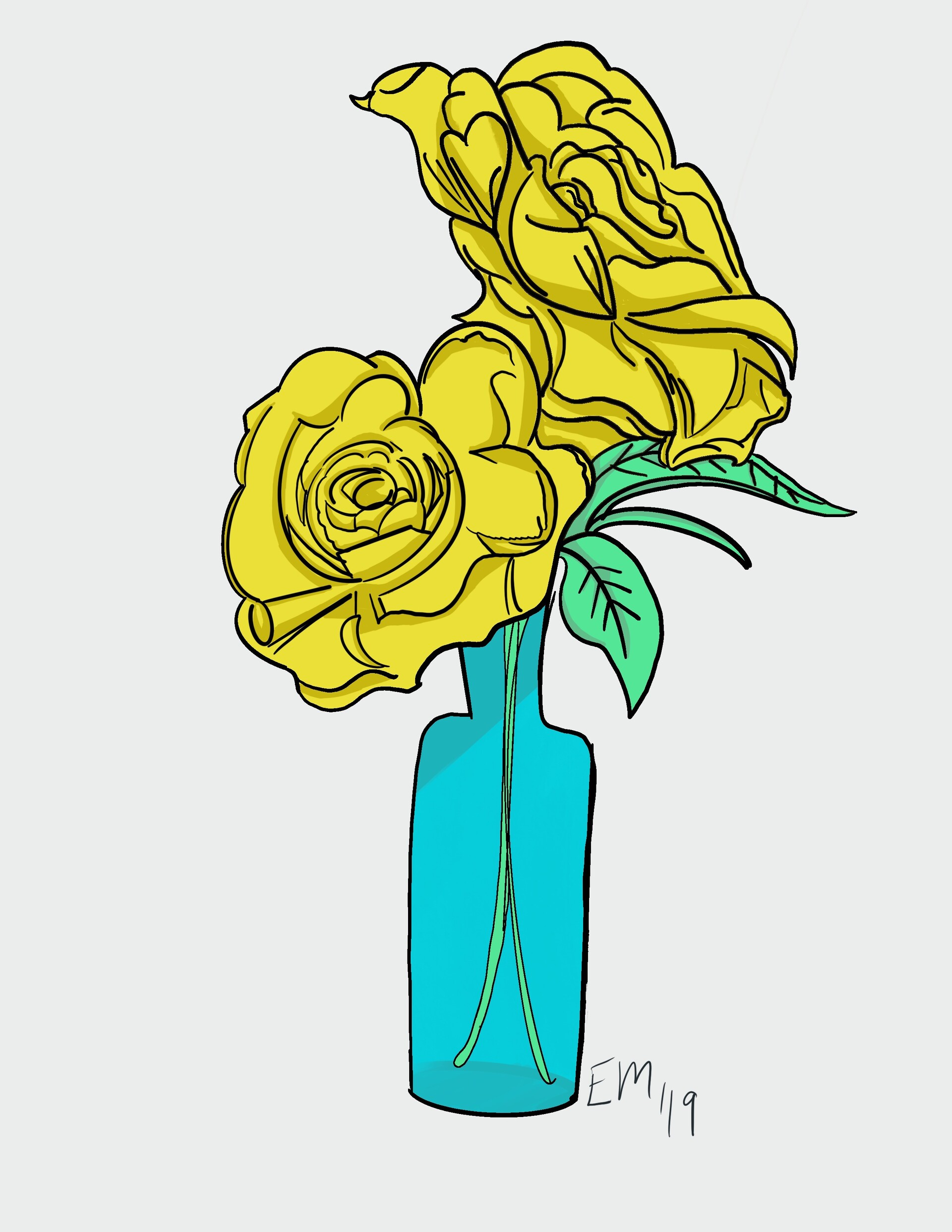 Yellow rose friendship clipart clip art royalty free ArtStation - Friendship Flowers, Ezzy Motaghedi clip art royalty free