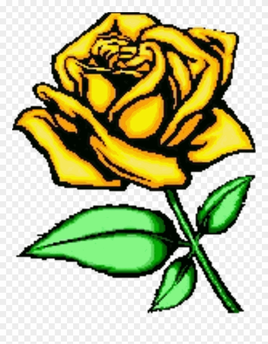 Yellow rose of texas clipart image freeuse Cartoon Rose Pictures - Yellow Rose Of Texas Clipart - Png ... image freeuse