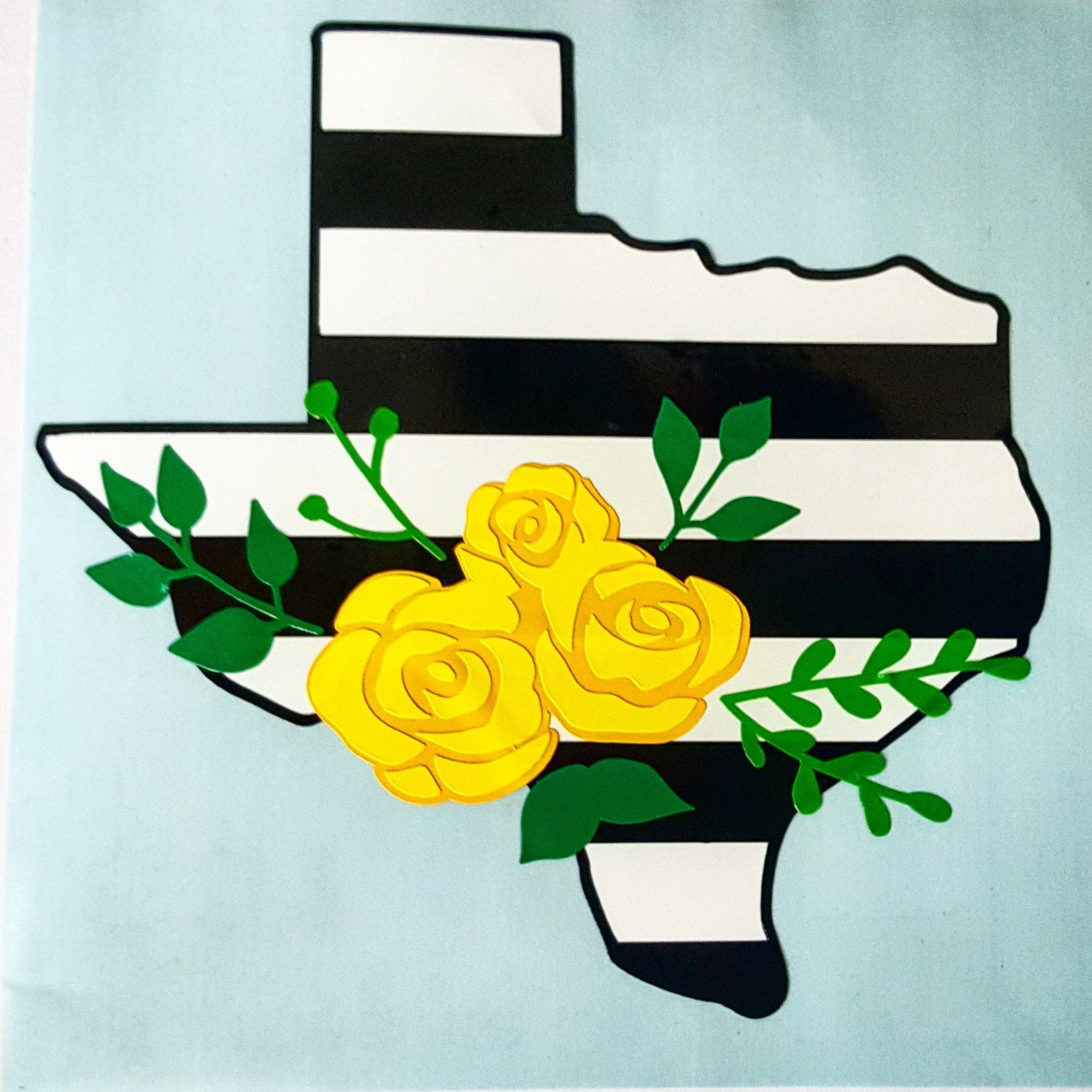 Yellow rose of texas clipart image library Texas Decal Yellow Rose of Texas Flower Swag Texas Decal by ... image library