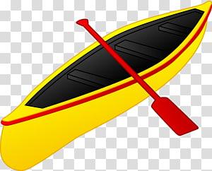 Yellow sailboat clipart jpg free download Boat Sea kayak Recreational kayak Watercraft, paddle ... jpg free download