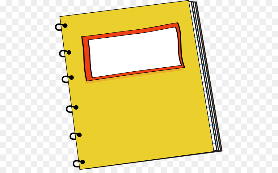 Yellow school notepad clipart jpg freeuse download School Supplies Cartoon png download - 543*550 - Free ... jpg freeuse download