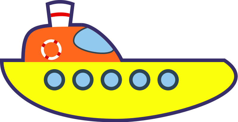 Yellow ship clipart vector freeuse Free Clipart: Yellow Cartoon Ship   qubodup vector freeuse