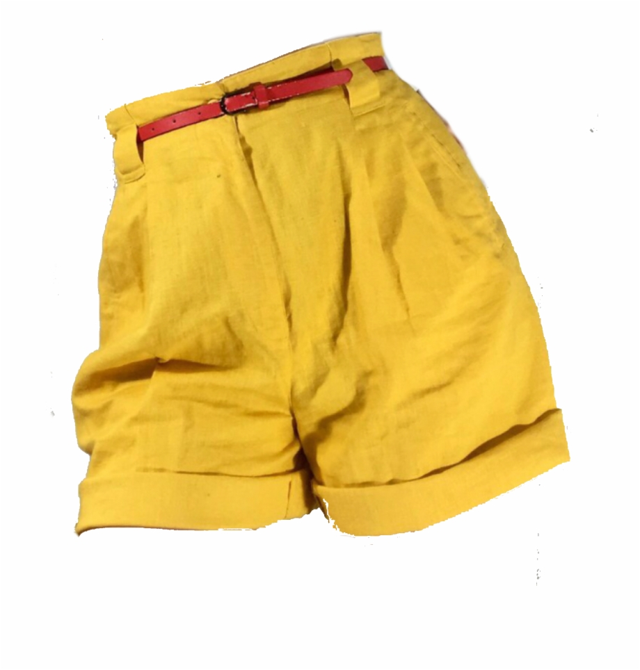 Yellow shorts clipart image download Yellow Red Polyvore Moodboard Filler Shorts Yellow - Yellow ... image download