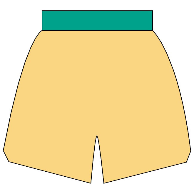 Yellow shorts clipart vector freeuse download Basketball shorts vector clip art - Free vector image in AI ... vector freeuse download