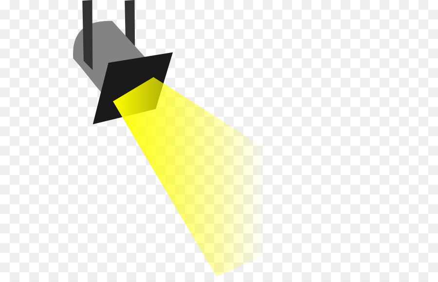 Spotlight clipart svg black and white Yellow Light png download - 600*569 - Free Transparent ... svg black and white